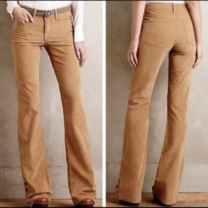 Anthropologie Pilcro Stet Corduroy Flare Pants